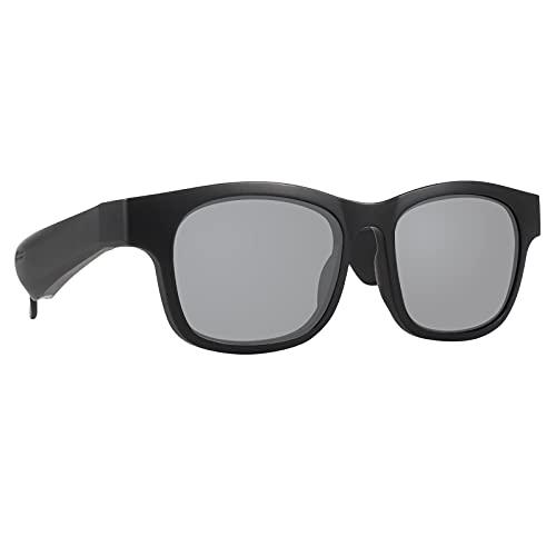 balikha Conduzione ossea Smart Occhiali Audio Intelligente Occhiali da Sole, Cuffie Bluetooth, Tempo di Ricarica 2 Ore, Tempo di Riproduzione di 5 Ore - Black