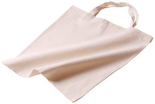 1 Baumwolltragetasche natur 130 g 38x42 kurzer Henkel