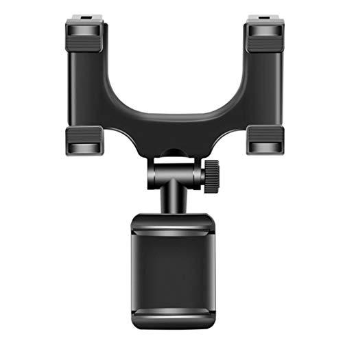 USNASLM Soporte de teléfono móvil para coche con rotación de 360 grados, para salpicadero de coche, visor de sol, espejo retrovisor, soporte para Smartphone Voiture