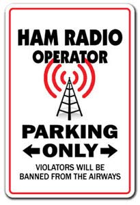 BDTS Nieuwe Ham Radio Operator Parking Decal Amateursl Call Shack Metalen Teken 8x12 inch