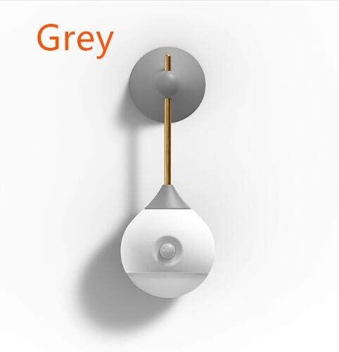BEITAI Sothing Sunny Smart Sensor Night Light Infrared Induction USB Charging Removable Night Lamp for xiaomi Smart Home # (Color : Grey)