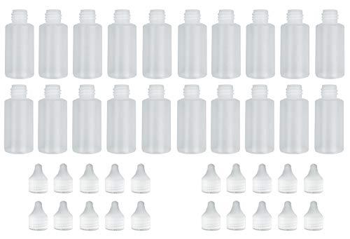 Leerflaschen (Mischflaschen) Spar-Set aus PE in 20 x 30ml für Liquid