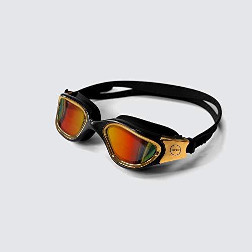 ZONE3 Vapour Gafas de natación, Unisex, Polarizado-Negro/Oro, tamaño único