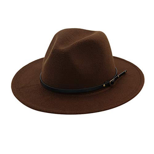 Vintage Wide Brim Fedora Hat for Men Women,MONISE Crushable Dress Jazz Dance Performance Costumes