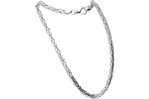 FILANGO Schmuck 925er Silber Königskette mit Karabinerverschluss hochglanzpoliert | Farben & Längenauswahl