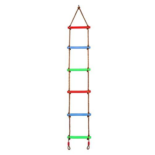 FDSJKD Escalada de Cuerda Escalera Cuerda Swing Swing Ladder Juguete para Ejercicio de Escalada para el jardín al Aire Libre Columpios de Seguridad y Salud Juguetes de Swing fácil de Montar