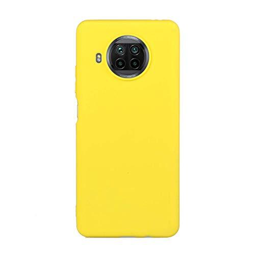 cuzz Custodia Xiaomi Mi 10T Lite+{Film di Vetro temperato}Silicone TPU Cover Morbida Protettiva Custodia Ultra Sottile Leggero Cover-Giallo