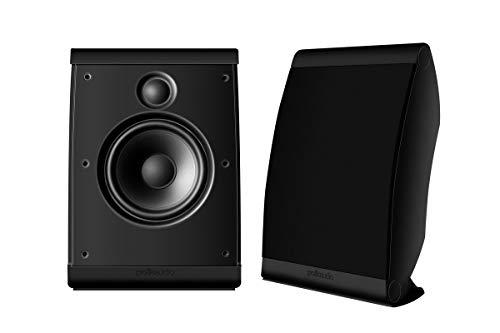 Polk Audio OWM3 Wall and Bookshelf Speakers | The Most High-Performance Versatile Loudspeaker | Paintable Grilles (Pair, Black) (Renewed)