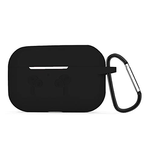 CROSSVOLT Soft Silicone Case Compatible for Airpods-pro Full Protective Shockproof Cover Set -Black
