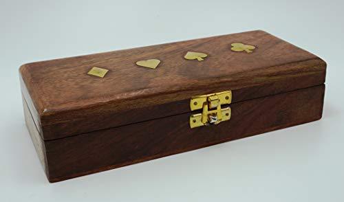 Geschenkhaus-Tom Spielkartenbox Karten Box Aufbewahrung für Spielkarten