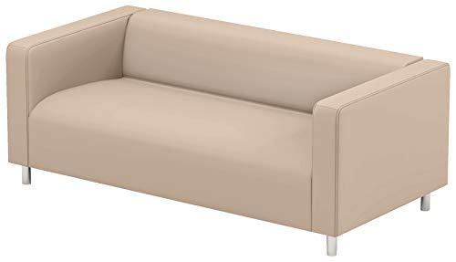 Cubierta / Funda solamente! ¡El sofá no está incluido! La Beige Klippan Loveseat funda de recambio es fabricada a medida para IKEA KLIPPAN, funda protectora, un sofá funda de recambio