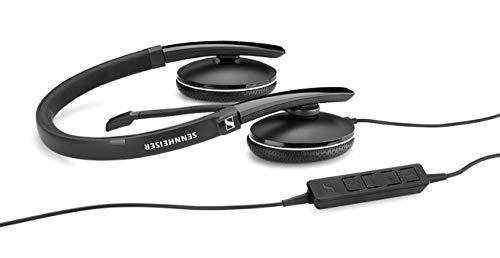 Sennheiser SC 160 USB (508315) - Doppelseitige (binaural) Headset für Geschäftsleute | mit HD-Stereo-Sound, Mikrofon mit Geräuschunterdrückung & USB-Anschluss (schwarz)