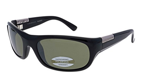 Serengeti Phillipe 7214 zonnebril glanzend zwart gepolariseerde tinten