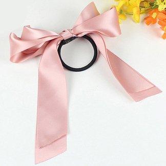 Miya®, elastico per capelli, per ragazza, bello ed elegante, con fiocco in raso nero