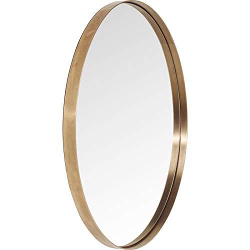Kare Design Spiegel Curve Round, runder Wandspiegel, Bad Spiegel, Schminkspiegel, Kupfer (H/B/T) 100x100x5cm