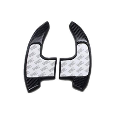 WPFC Auto-Carbon-Faser-Lenkrad-Shift-Paddel, Für Ford Mustang Lenkrad Shift-Paddle Shifter Verlängerung DSG 2015 2016 2017 2018 2019,Schwarz