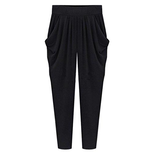 SHOBDW Pantalones de Mujers Tallas Grandes, Anchos con lanura Abocinado Anchos Pierna Cintura elástica de Cintura Alta Pantalones de Mujer