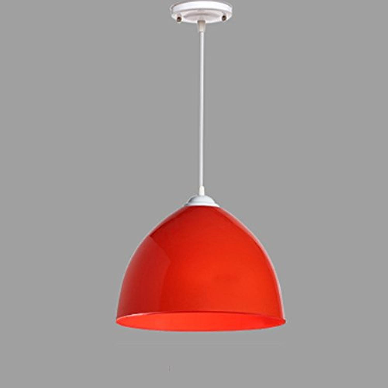 Einfache Farbe Einkopf Acryl Kronleuchter (Farbe   Rot)