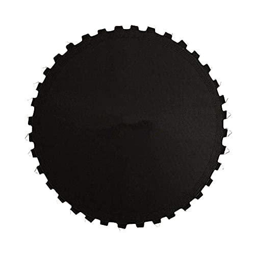 WHkeji, trampolino per attività ricreative, ad alta elasticità, in tessuto per rimbalzo, portatile, rotondo, per esterni, resistente all'usura, resistente all'usura (nero, 4,3 m 80 molle)