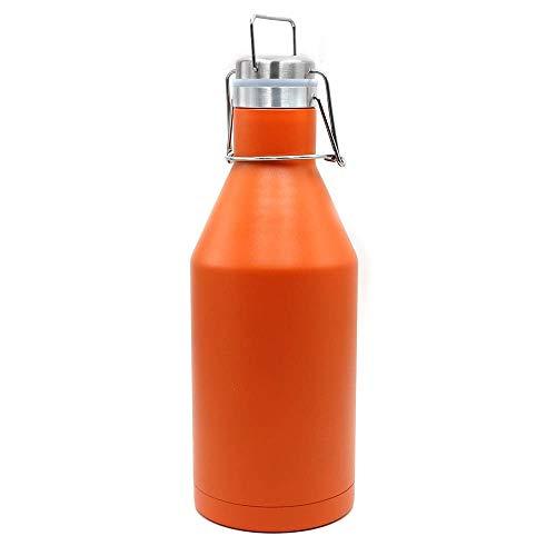 ChengBeautiful Copa De Vino Al Vacío La Botella de Cerveza de Acero Inoxidable 304 de Aislamiento Jug Regalo Hervidor Deportes al Aire Libre Copa portátil (Color : Orange, Size : 2000ml)