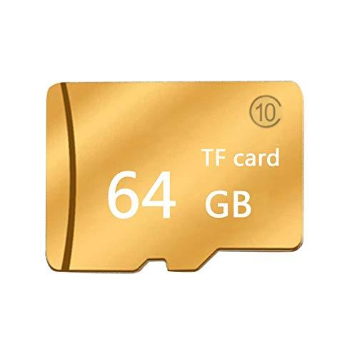 64GB Speicherkarte, Flash-Speicherkarte, High-Speed-Speicherkarte 80mb Micro SD SDHC Speicherkarte mit Kartenleser-Kartenabdeckung, geeignet für Kameras & Handy, Golden Neutral