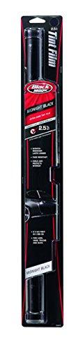 Custom Accessories Black Magic 5044819 Midnight Black Extra Dark Tint Film, 2.5% VLT, 25-Inches x 78-Inches
