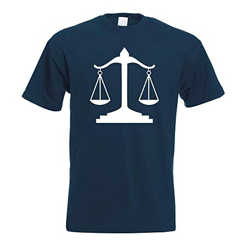 Waage Gericht Anwalt Justitia T-Shirt Motiv Bedruckt Funshirt Design Print
