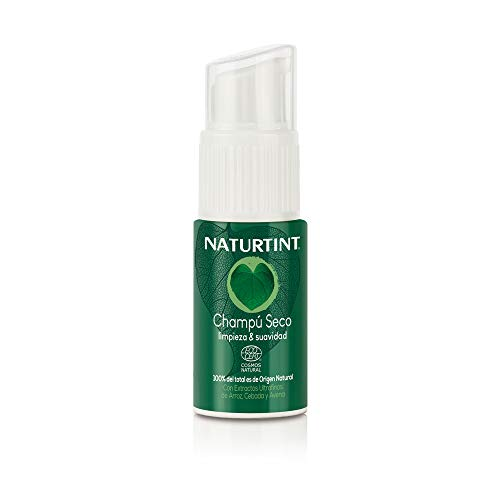 Naturtint Eco Champú Seco, Limpieza y Suavidad, 100% Ingrediente Natural 20ml