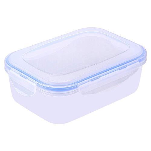 Caja De Almacenamiento De Plástico De Conservación Fresca con Tapa, Adecuada para Almacenamiento En Cocina, Horno Microondas, Fiambrera