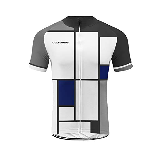 Uglyfrog Diseños Especiales Manga Corta Maillot MTB Ciclismo De Hombre Verano Ropa De Triatlon Transpirables/Culot Transparente Bicicleta Sets ESHSJ01