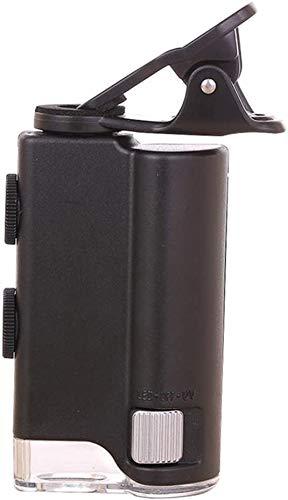 Wxxdlooa LED Vergrootglas Zoom 60X-100X Microscoop voor Cellphone UV Valuta Detectie Biologie Sieraden Appraisal Microscoop