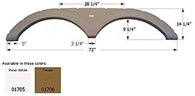 Icon 01705 Tandem Axle Fender Skirt FS1705 for Keystone - Polar White