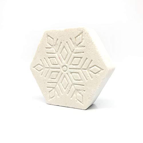 REEEDOM Bath Bomb Snowflake Badesalz Kugel Vegan Organic Schäumende Schaumbad Spa Essential Oil Blumen Moisturizing Geschenk für Frauen, Mädchen,Weiß