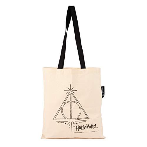 """Harry Potter - Bolsa de tela con texto en alemán """"Heiligtümer des Todes 38 x 41 cm"""