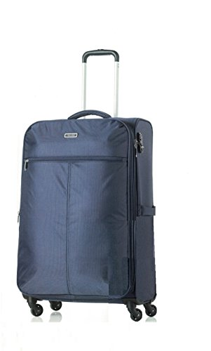 Trolley Jaguar Swing valigia misura media navy blu espandibile