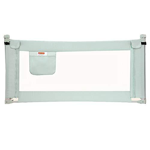 Barrières de lit LHA Clôture de lit Sécurité de sécurité Anti-Collision pour Un Garde-Corps Anti-Collision à Un Bouton, Pliage sans Couture (Couleur : Green, Taille : L-150cm)