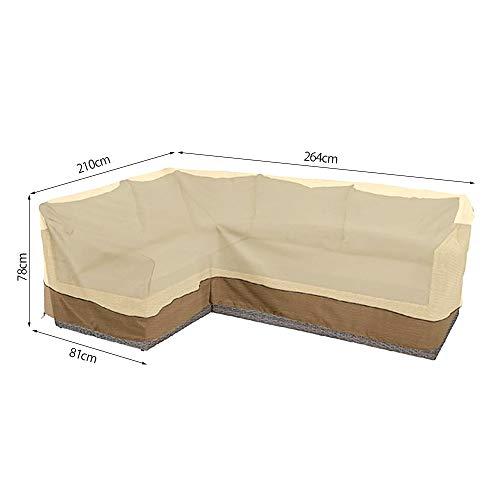 Dightyoho Abdeckung für Gartenmöbel Ecksofa Schutzhülle Abdeckplane für Loungemöbel Gartensofa Wasserdichtes Oxford-Gewebe (Link)