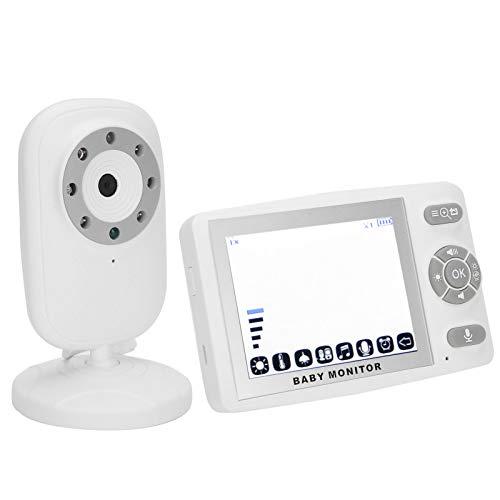 VigilabebéS de VíDeo - 3.5 Pulgadas Inteligente Digital VigilabebéS InaláMbrico con CáMara y Audio para la Seguridad del Hogar, Aumento 2X, FuncióN de MúSica y Temperatura(yo)