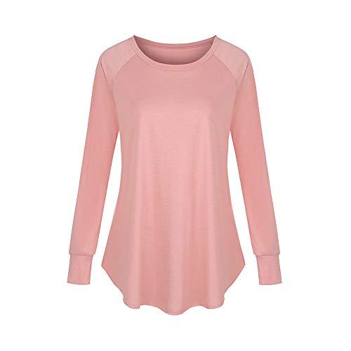 Nobrand Damen-Pullover, einfarbig, Rundhalsausschnitt, langärmelig, Schwalbenschwanz-T-Shirt Gr. X-Large, 6