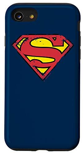 iPhone SE (2020) / 7 / 8 Superman Distressed Shield Logo Case
