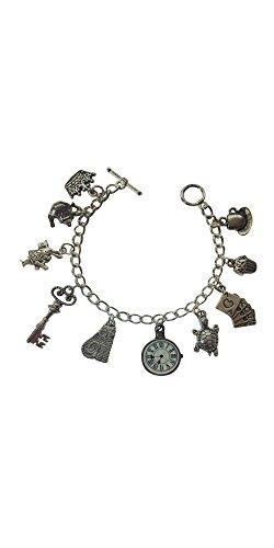 Alice nel paese delle meraviglie dieci braccialetto con charm – misura S – 15 cm