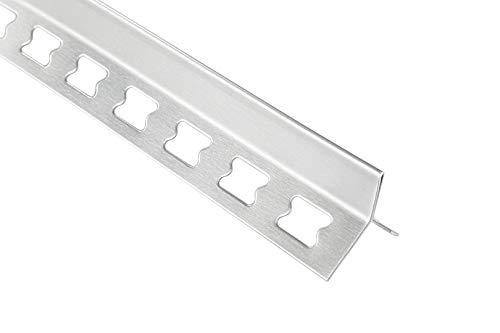 HEXIM 12mm Y-Profil Edelstahlschienen Sparpakete - Fliesenschienen, Fugenprofil silber gebürstet - 10 Stück = 20 m á 2,00 m