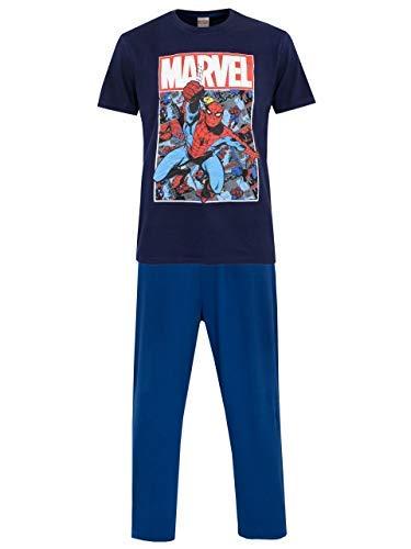 Marvel Pijamas para Hombre Spiderman Azul Small