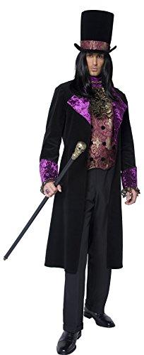 Smiffys Déguisement Homme, Comte gothique, avec faux gilet, foulard attaché, veste & chapeau, Taille M, 36117