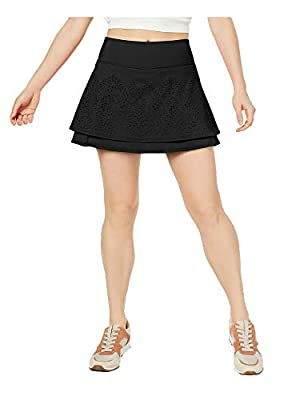 Ideology Perforated Tiered Skort, Noir L
