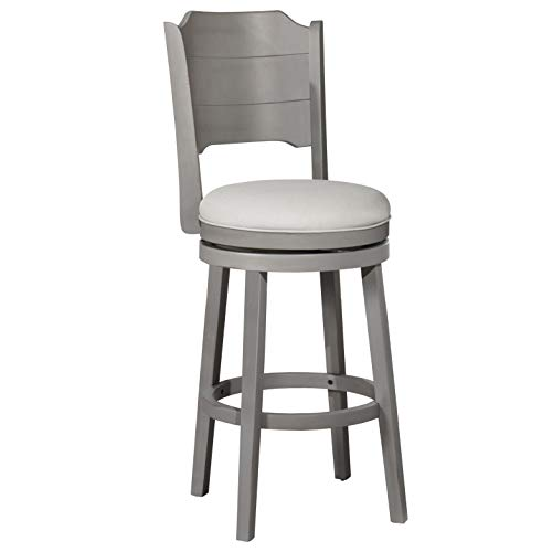 Hillsdale Furniture Hillsdale Clarion Swivel, Distressed Gray Wood Finish Bar Stool