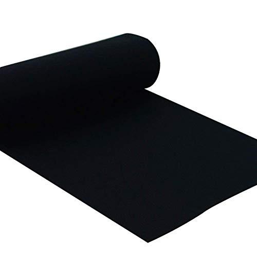 Corredor De Pasillo Negro Alfombra Negra, Corredor De Alfombra De Poliéster De 2.2 Mm De Espesor, Alfombras Desechables Para Interiores Y Exteriores, Decoraciones De (Size:1.2×30m(4×98ft),Color:negro)
