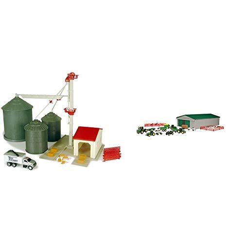 ERTL Farm Country Grain Feed Set & John Deere Die-cast Farm Toy 70 Piece Value Playset