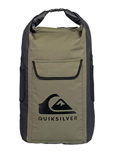 Quiksilver Herren Sea Stash - Mittlerer Surf-Rucksack für nasses Equipment mit Rollverschluss für Männer Backpack, Four Leaf Clover, 1SZ