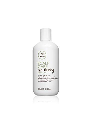 Paul Mitchell Tea Tree Scalp Care Anti-Thinning Shampoo - Hair-Growth Shampoo für kräftigeres, voller aussehendes Haar, Haar-Wäsche unterstützt das Haar-Wachstum, 300 ml